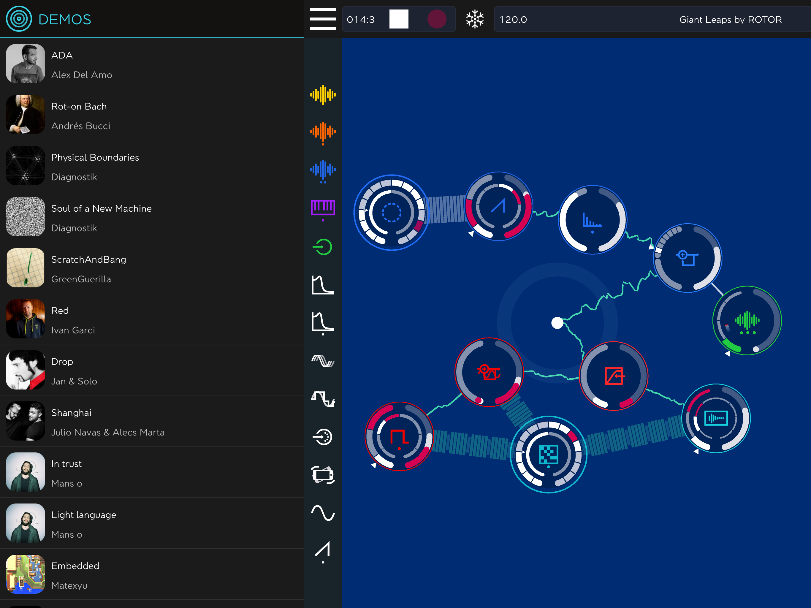 ROTOR, Tangible Modular Music Synth App by Reactable Music